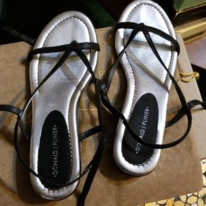 Donald J. Pliner Strappy Black Sandals, Size 7M